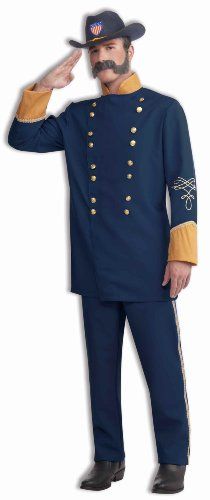 [Forum Novelties Union Officer Costume, Blue, One Size] (Army Men Halloween Costumes)