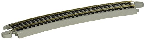 Bachmann Trains Snap - Fit E - Z Track 22¿ Radius Curved Track - Bulk (50 Pieces) ()
