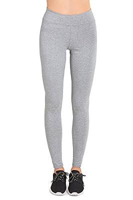 Sofra Women's Medium Weight Breathable Cotton Leggings