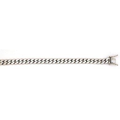 "Or blanc 14 carats 7,7 mm-Link Bracelet chaîne JewelryWeb - 8 """