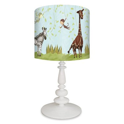 Oopsy Daisy NB14914 Jungle Fun on Resin White Base Table Lamp, 21