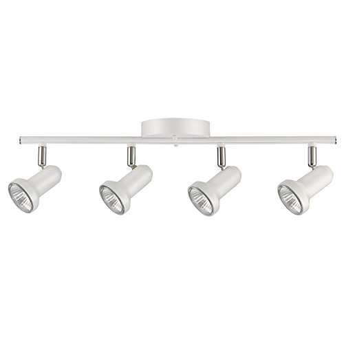 Melo 4-Light Track Lighting, Glossy White
