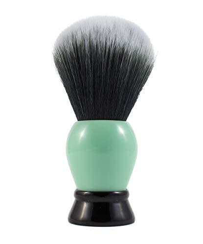 Acrylic Mint Green and Black Shaving Brush (20mm, Tuxedo Synthetic)