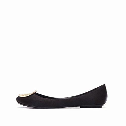 Ballet Chaussures Plates Printemps CWJ C Chaussures Profonde Peu Été Chaussures Plates de Et des Bouche avec gfv0f8