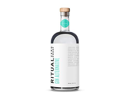 Ritual Gin - A zero-proof non alcoholic gin alternative that echoes the taste, smell, and burn of botanical gin for easy mocktails and alcohol-, gluten- and sugar-free cocktails (750 mL)