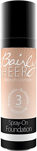 Bairly Sheer, Ultra Mist Airbrush Foundation, Shade 3 Golden Beige