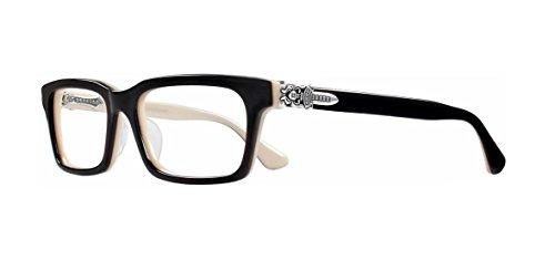 Chrome Hearts - Rumpleforeskin-A - Eyeglasses (Black and Tan, - Frames Italian Eyeglasses Online