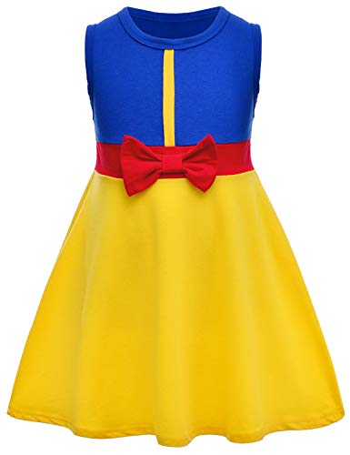 (Snow White Princess Dress costume for Little Girls 5-6)