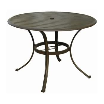 cast aluminum outdoor dining furniture modern table patio chairs this item panama jack island breeze slatted round espresso finish umbrell