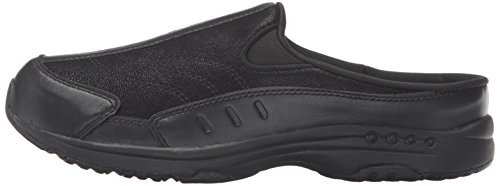 Easy Spirit Women's Traveltime Clog, Black/Black Leather, 8 W US by Easy Spirit (Image #5)