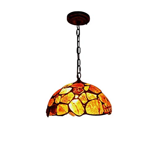 Tiffany Chandelier, 12-Inch Stained Glass Jade 1-Light Hanging Lamp for Living Room Villa Ceiling Decorative Lighting Pendant Lamp (Color : B)
