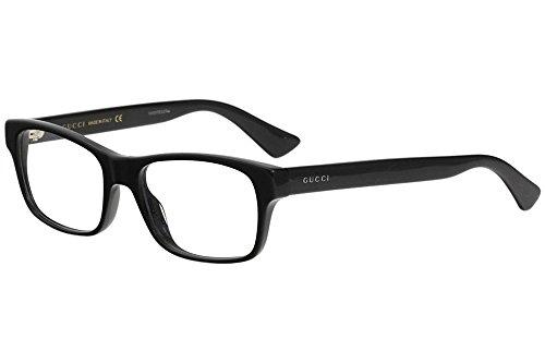 Gucci GG 0006O 005 Black Plastic Rectangle Eyeglasses 55mm