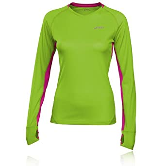 ASICS FUJI Women s Long Sleeve Running Top - X Large - Green at ... 522681b4f