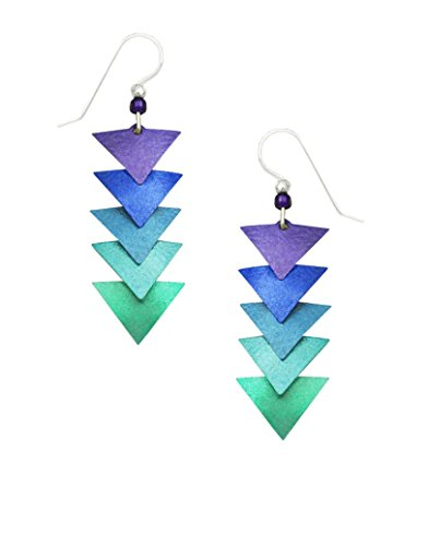 Adajio by Sienna Sky Purple Teal Cascading Triangle Earrings 7598 ()