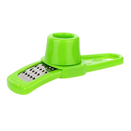 HighlifeS Multifunction Stainless Steel Pressing Garlic Slicer Convenient Cutter Shredder Kitchen Tool (Green)