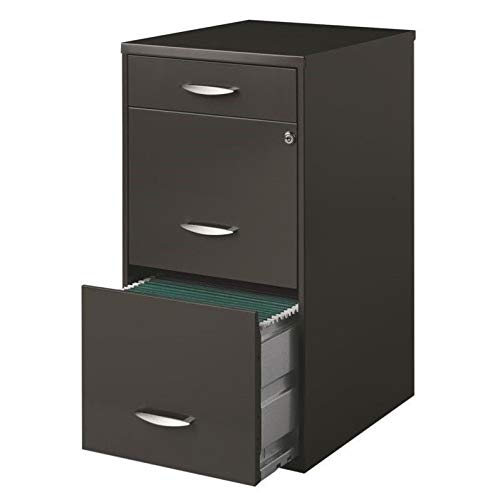 Hirsh SOHO 3 Drawer File Cabinet in Charcoal by CommClad