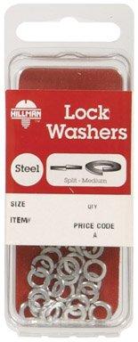Hillman No. 8 Split Lock Washer Zinc Plated Steel 40 / Card