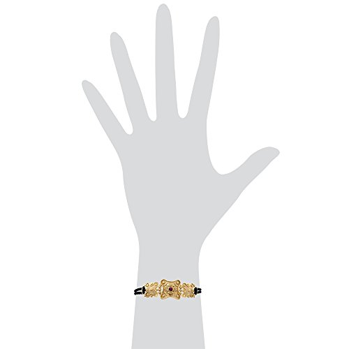 Gioiello Italiano Bracelet en or jaune 14carats avec cordon noir