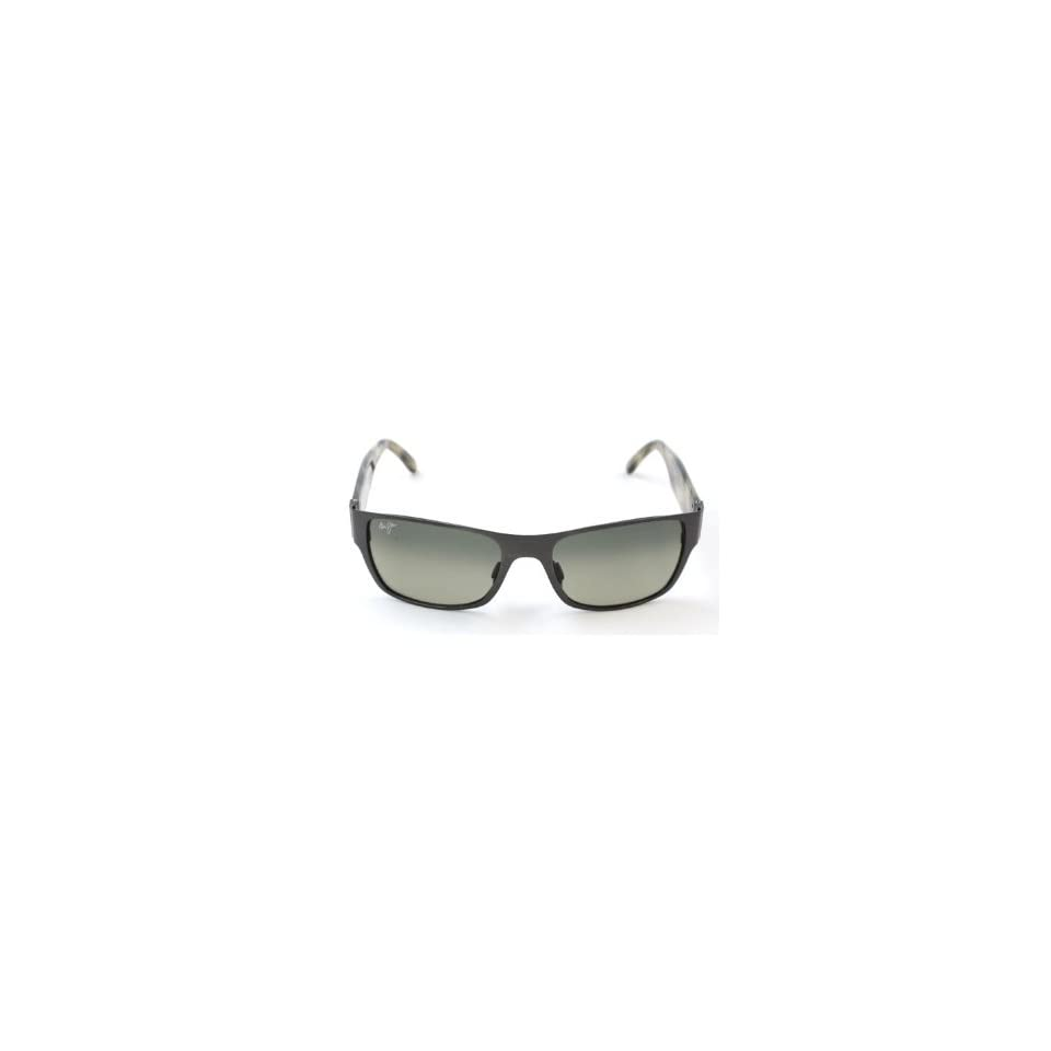 Maui Jim GS243 02F Black Kamuela Wayfarer Sunglasses Polarised Lens Mirrored