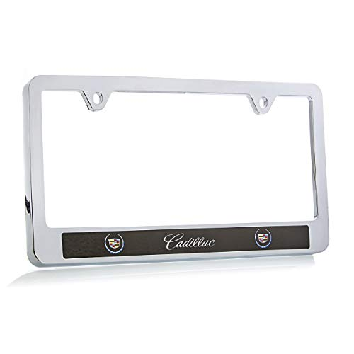 Cadillac (2000-2013 Logo ABS Plastic Chrome Finish License Plate Frame