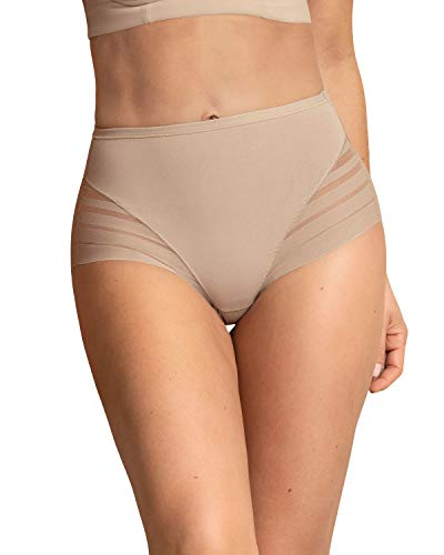 Leonisa Women's No Show Invisible Comfy Tummy Control Classic Panty
