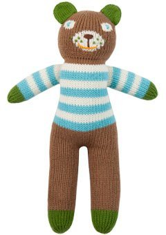 (Blabla Berry the Bear Mini Plush Doll - Knit Stuffed Animal For Kids. Cute, Cuddly & Soft Cotton Toy. Perfect, Forever Cherished. Eco-Friendly. Certified Safe & Non-Toxic.)