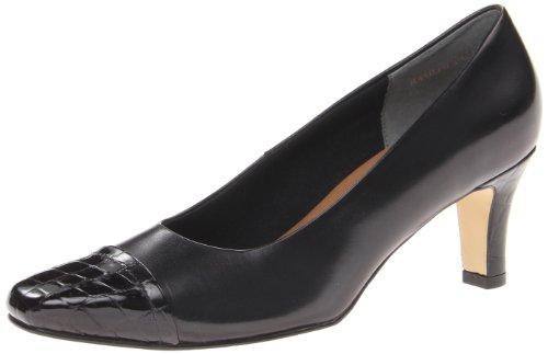 Footwear Walking Cradles (Walking Cradles Women's Race Dress Pump,Black Crocodile,7.5 WW US)