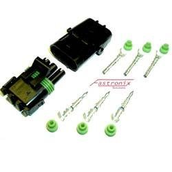 (Fastronix 3 Pin Weather Pack Connector Kit)