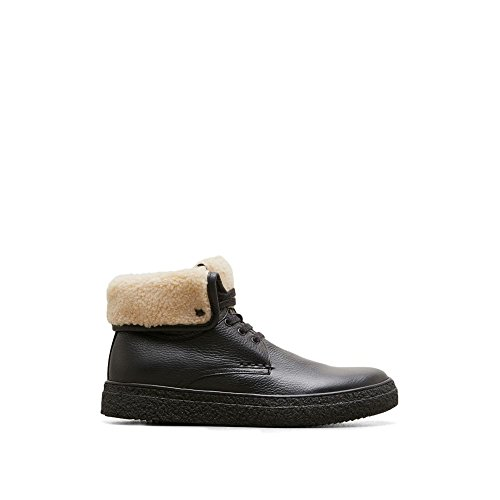 Kenneth Cole New York High-top Wol En Lederen Sneaker - Heren Zwart