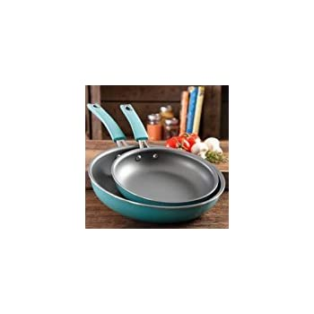 The Pioneer Woman Butterfly Vintage Speckle 2-Pack Non-Stick Frying Pan Set, Turquoise