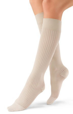 JOBST soSoft 8-15 mmHg Ribbed Closed Toe Knee Support Stocking, Sand, Small by BSN Medical by BSN Medical