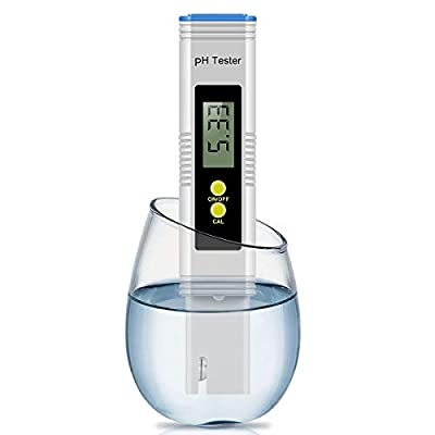 Digital PH Meter, PH Meter 0.01 PH High Accuracy Water Quality Tester with 0-14 PH Measurement Range for Household Drinking, Pool and Aquarium Water PH Tester Design with ATC (Blue)