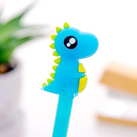 Bolígrafo de dinosaurio Kawaii Fancy de tinta negra de gel creativo Dragon Monster bolígrafo de punta fina bolígrafo bolígrafo de punta fina, bolígrafo de papelería escolar oficina suministro, bolígrafo, set Arkin: Amazon.es: