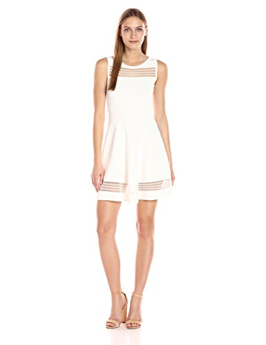 French Connection Women's Tobey Crepe Knits Dress, Summer White, 4 by French Connection