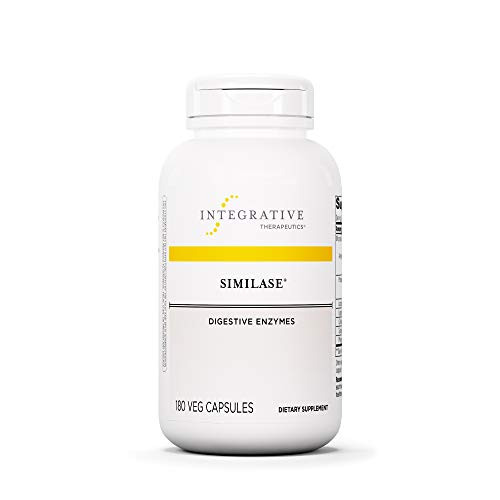 Integrative Therapeutics - Similase - Physician Developed Digestive Enzymes for Women and Men - Relieves Occasional Gas and Bloating - Vegan - 180 Vegetable Capsules
