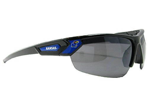 Kansas Jayhawks Black Sunglasses - 2
