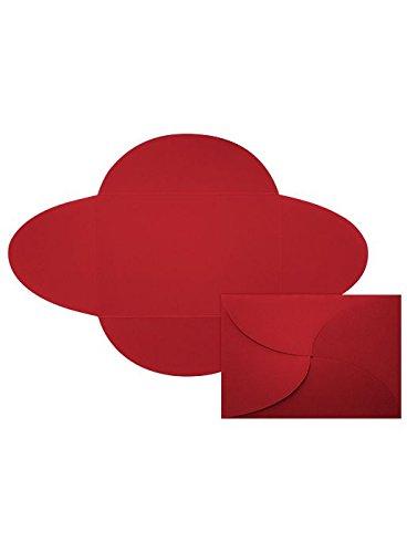 5x7 A7 Petal Invitations - Ruby Red Envelopes - Pack of (Petal Envelopes)