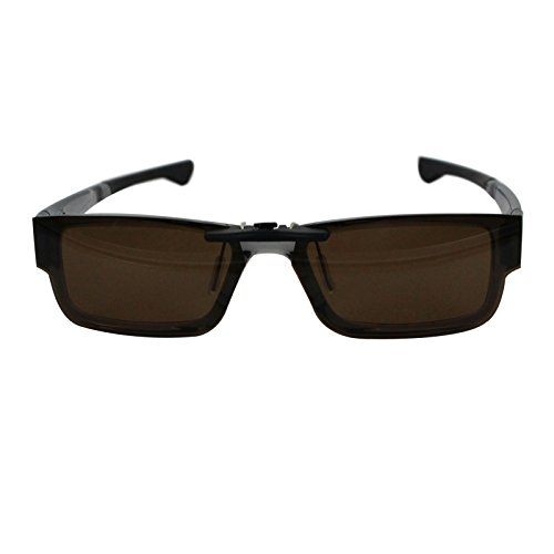 Custom Polarized Clip on Sunglasses For Oakley Airdrop 51 OX8046 51-18-143 (Brown) by oGeee (Image #3)