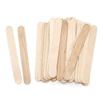 """Natural Jumbo Wood Craft Sticks 6"""" Length (500)"""