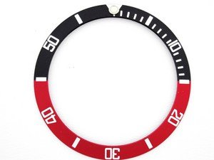 Submariner Bezel Insert for Rolex Sapphire Black/red