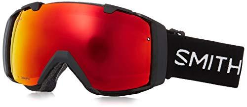 - Smith Optics I/O Adult Snow Goggles - Black/Chromapop Everyday Red Mirror/One Size