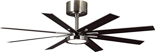 Monte Carlo 8EER60BSD, Empire, 60 Ceiling Fan, Brushed Steel
