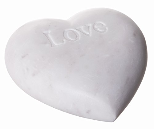 - Red Co. Lovely Decorative Soapstone Heart with Engraving, Decorative Accents, 4-inch