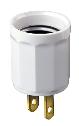 Leviton 61-W 660W 125V Polarized Outlet-to-Lampholder Adapter, ()