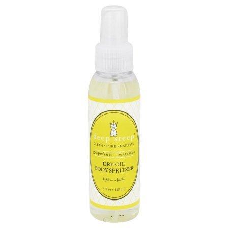 Deep Steep 1143064 Dry Oil Body Spritzer Grapefruit Bergamot 4 Fl (Dry Oil Spritzer)