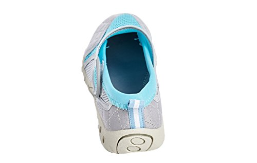 Shoes Women's Velcro US Aqua Women Beach Bluegrey Shoes 10 Closure Style with High Water 5I1g5q