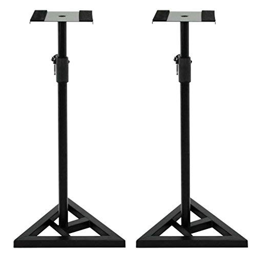 Studio Monitor Speaker Stand Height Adjustable Concert Band Heavy Duty 2 Pair by Unknown