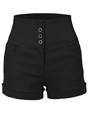 RubyK Womens High Waisted Sailor Shorts with Stretch | Amazon.com
