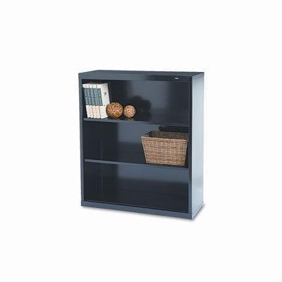 (Welded Steel Bookcase, H 40, 2 Shelf, Black B-42BK)