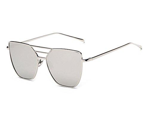 Clubmaster Classic Square Sunglasses Silver Flash Lense - 5